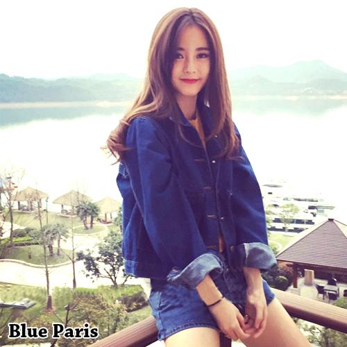 外套 - 短版雙大口袋牛仔丹寧外套【29187】藍色巴黎 - 現貨 + 預購