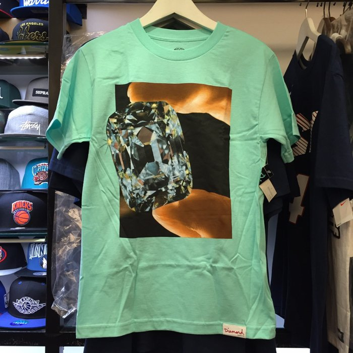 BEETLE PLUS 西門町 全新 DIAMOND SUPPLY CO GEM TIFFANY 綠 大裸鑽 TEE D14DPA76DBU DA-31