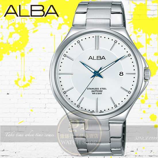 ALBA 劉以豪代言簡約風潮時尚腕錶VJ42-X184S/AS9B47X1公司貨/情人節禮物