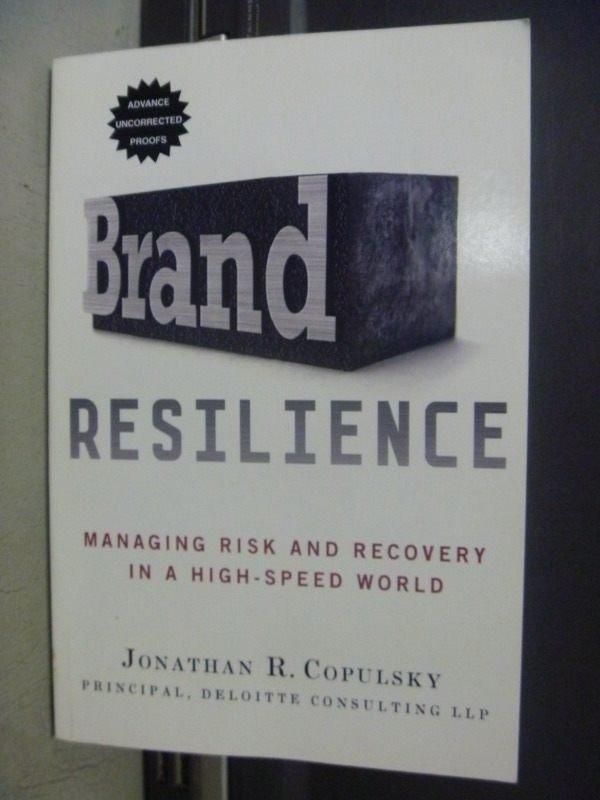 【書寶二手書T6/財經企管_KQR】Brand Resilience_Jonathan R. Copulsky
