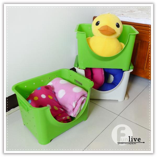 【aife life】可疊萬用寬收納箱/置物籃/開放式收納盒/可堆疊收納箱/雜物收納盒/萬用收納/衣物收納箱
