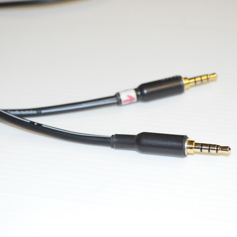 志達電子 CAB082  日本鐵三角 4極 3.5mm 公 to 4 極3.5mm 公 耳機升級線 適用AH-D400 UE4000 UE6000