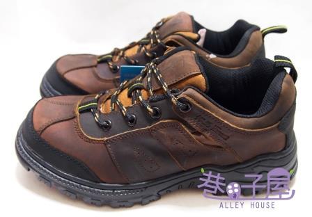 【巷子屋】Hanama悍馬 男款純正牛皮防穿刺鋼頭安全鞋 H級 [6521] 咖啡 超值價$1080