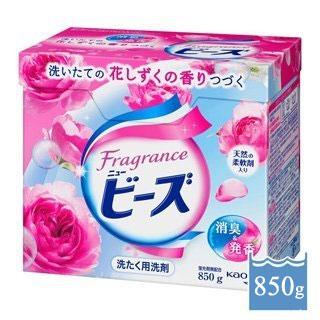 【日本花王】玫瑰果香酵素洗衣粉 850g 天然柔軟精成分 無添加螢光劑 防腐劑