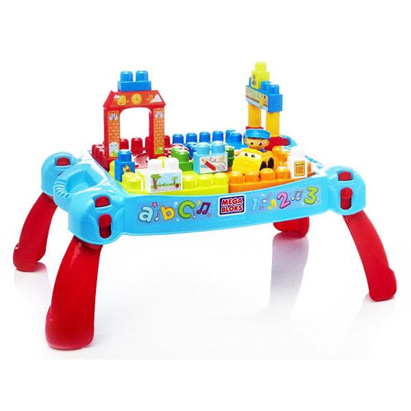 【奇買親子購物網】MEGA BLOKS-美高可收納趣味積木桌