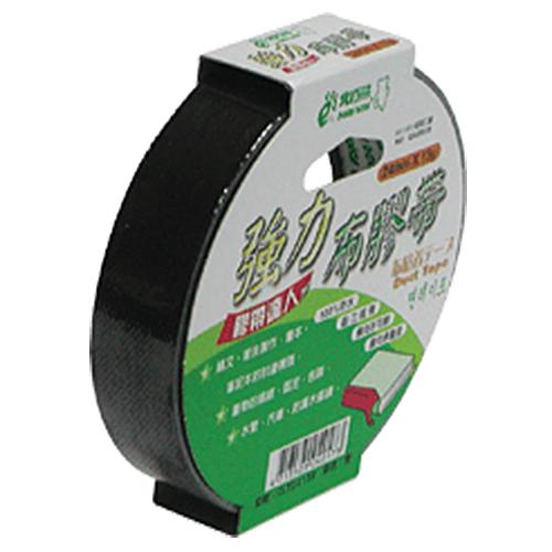 【北極熊】強力布膠帶/布紋膠帶/布質膠帶 CLT2415B (黑色) 24mm×15y