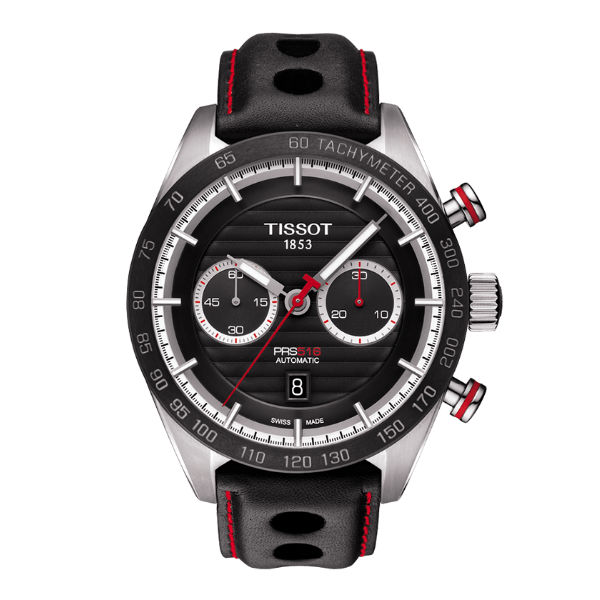 TISSOT天梭T1004271605100 PRS516雙眼計時機械腕錶/黑面45mm