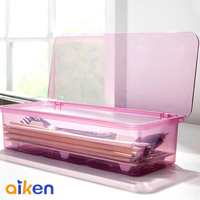 【艾肯居家生活館】瀝水筷子收納盒 餐具 瀝水盒 廚房 餐具瀝水盒 筷架 收納盒 ( 紅色下單區 )  - J2208-001