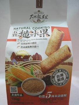 大葳生機~五寶糙米果180公克/包(奶蛋素)