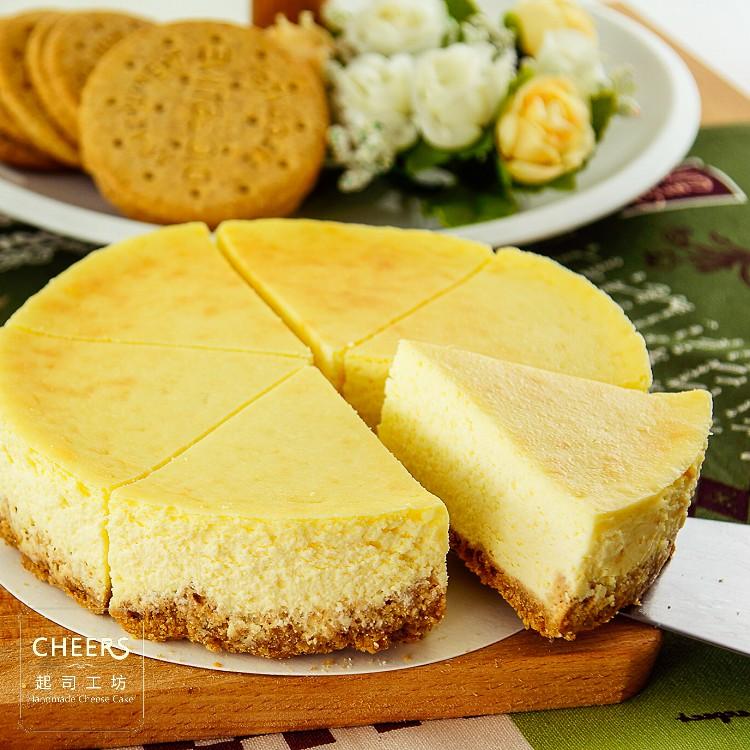 【CHEERS 起司工坊】原味重乳酪蛋糕6吋~風味濃醇的重乳酪蛋糕,以紐西蘭進口奶油提升風味的餅乾為基底,更顛覆以往嚴選添加膠原優格;悠享乳香襲人的美味之餘,更能品嚐清新健康層次口感。[ 慶生、野餐甜點、下午茶時光、團購、伴手禮首選]