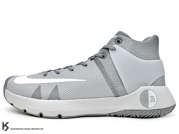 2016 Kevin Durant 最新代言 平價戶外專用 子系列鞋款 NIKE KD TREY 5 IV 4 EP 高筒 灰銀白 HYPERFUSE 科技鞋面 前 ZOOM AIR 氣墊 XDR 耐磨橡膠外底 雷帝 代言簽名鞋款 勇士隊 (844573-011) 1216