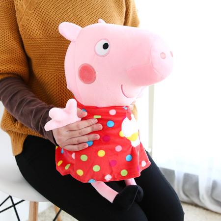 正版 粉紅豬小妹造型娃娃 35cm 杯子蛋糕 點點 英國粉紅豬 Peppa Pig 佩佩豬 布偶 玩偶 玩具 禮物【N201292】