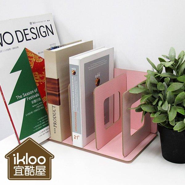 BO雜貨【SV5011】ikloo木質桌面組合書架 書櫃雜誌櫃收納櫃 多格置物空間 適用於居家辦公室