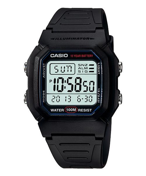 CASIO W-800H-1數位腕錶/44*37mm