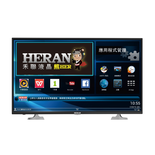 【禾聯HERAN】43吋LED液晶顯示器(HD-43AC2+視訊盒)