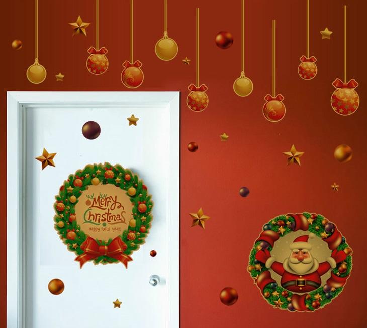 【壁貼王國】 耶誕系列無痕壁貼 《聖誕花環 - ABQ5002》