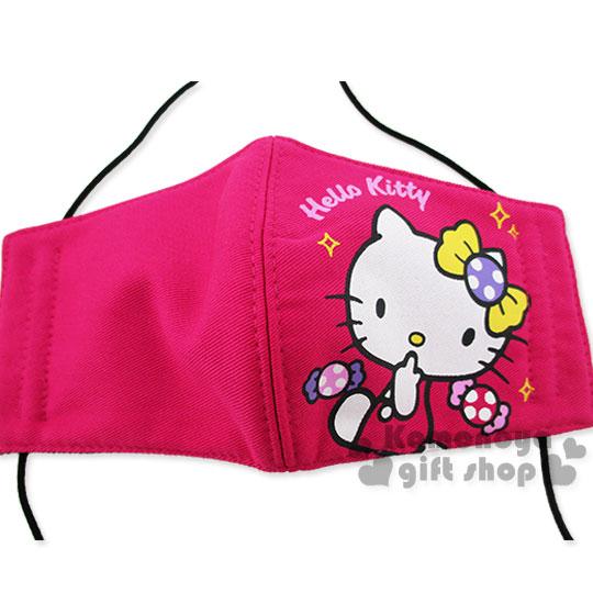〔小禮堂〕Hello Kitty 兒童立體口罩《桃.糖果.亮晶晶》感冒對策用品