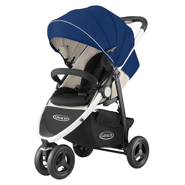 ★衛立兒生活館★GRACO 3W單向豪華型嬰幼兒手推車CITITREK(藍旋風)