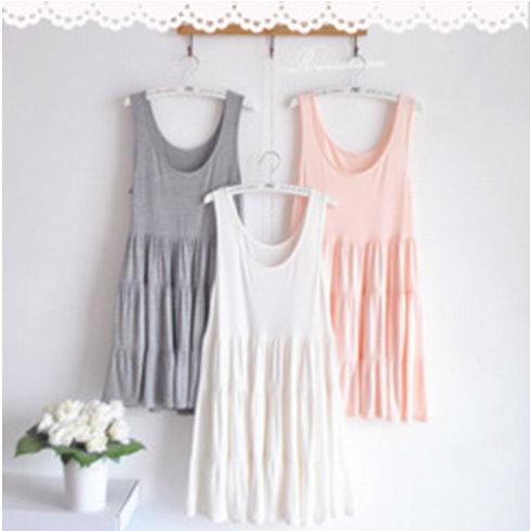 YJY舒適莫代爾棉蛋糕裙洋裝[K20116]-3色