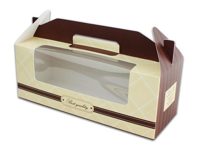 外帶盒、包裝盒、手提盒  3格提盒 MS-3-C(咖色黃格)5 pcs附底托