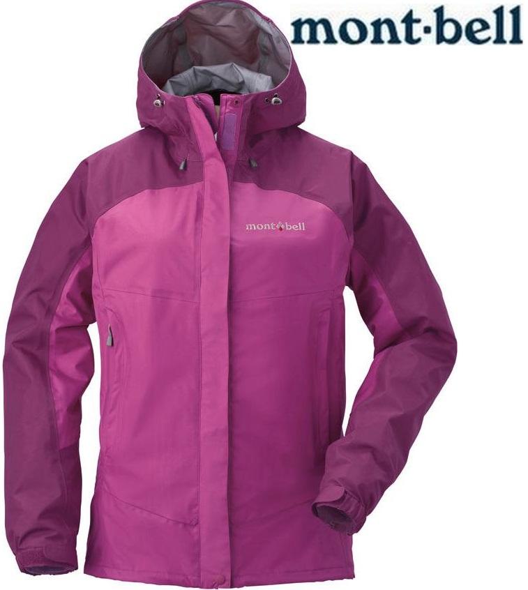 Mont-Bell 雨衣/健行/背包客/玉山/嘉明湖/風雨衣/防水透氣外套 1128345 Thunder Pass MU/FS 女款紫紅