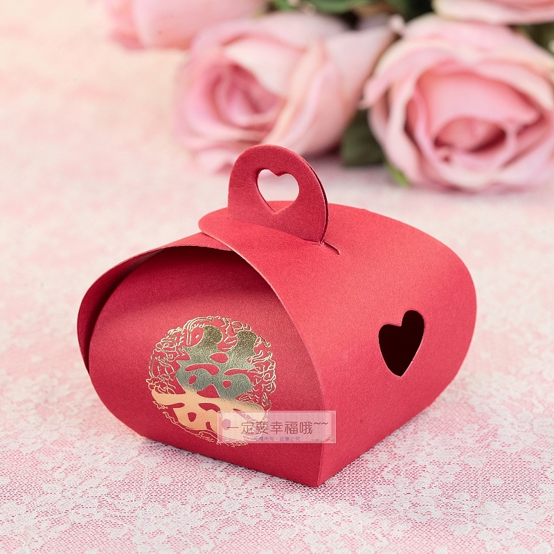 一定要幸福哦~~浪漫喜字喜糖盒、紙盒.婚禮小物.送客喜糖