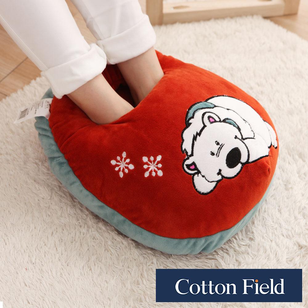 【北極熊】超柔貼布刺繡暖腳枕