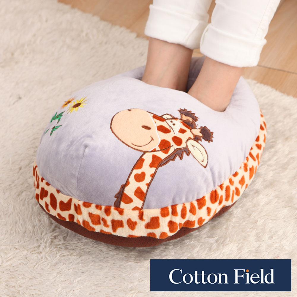 【長頸鹿】超柔貼布刺繡暖腳枕