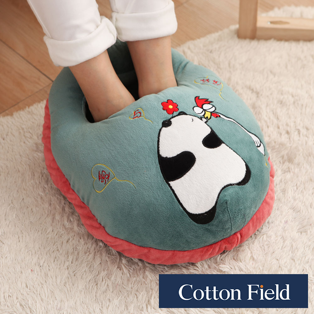 【貓熊】超柔貼布刺繡暖腳枕