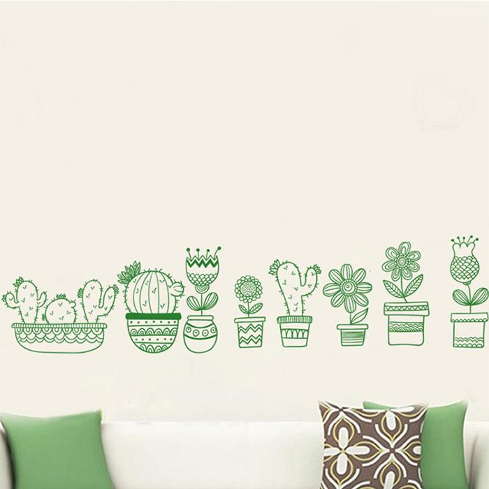 壁貼 盆栽 居家裝飾牆壁貼紙【YV6790】快樂生活網