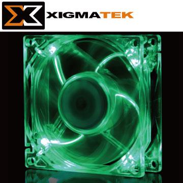 Xigmatek CLF-F8253 8cm 綠光 LED 系統散熱風扇