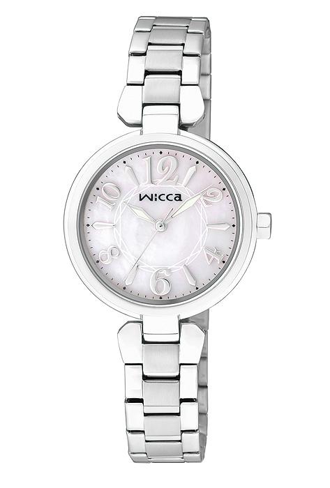 CITIZEN星辰WICCA(BG3-813-11)公主典雅時尚腕錶/白粉面26mm