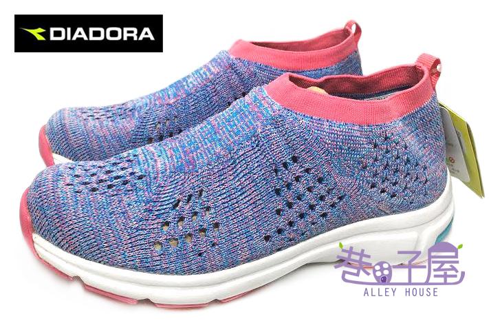 【巷子屋】義大利國寶鞋-DIADORA迪亞多納 女款彈性編織運動跑鞋 [9986] 藍紫 MIT台灣製造 超值價$498