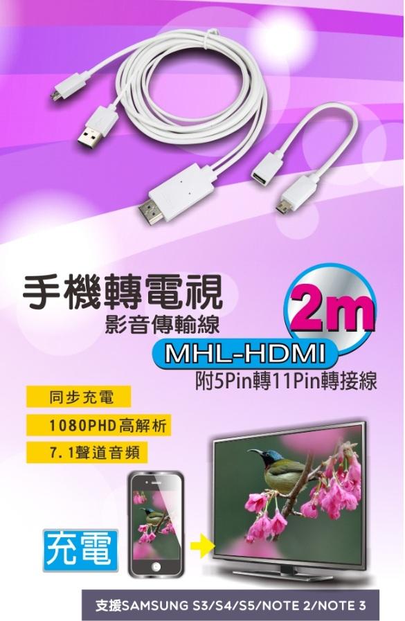 ❤含發票❤【KINYO-手機轉電視影音傳輸線】❤手機/平板/三星/HTC/SONY/LG/影音/電視/HDMI/電影❤