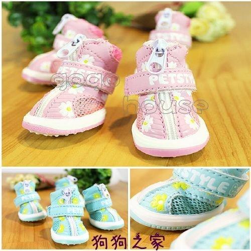 ☆狗狗之家☆Petstyle 小花 網狀透氣 寵物 鞋子 休閒鞋 運動鞋