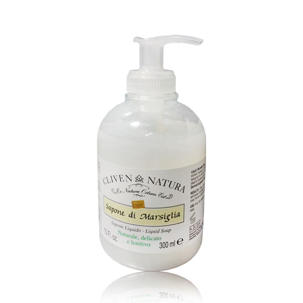 CLIVEN香草森林-檸檬保濕&防敏天然馬賽皂液洗面乳300ml