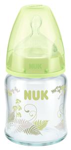 『121婦嬰用品館』NUK  寬口徑玻璃奶瓶 - 120ml (1號中圓洞)