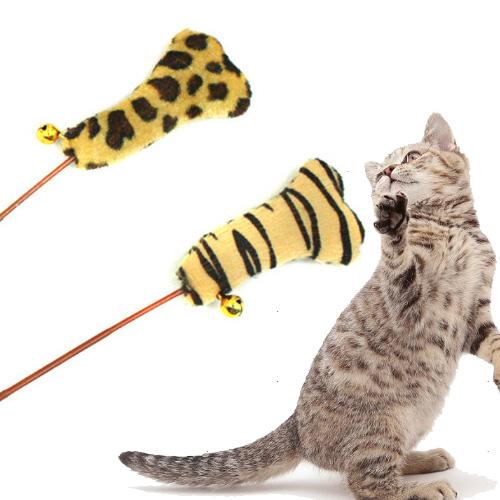 【小樂寵】豹紋/斑馬紋鈴鐺貓草逗貓玩具