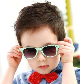 Kocotree◆創意個性塗鴉設計兒童防紫外線護目太陽眼鏡-淺綠
