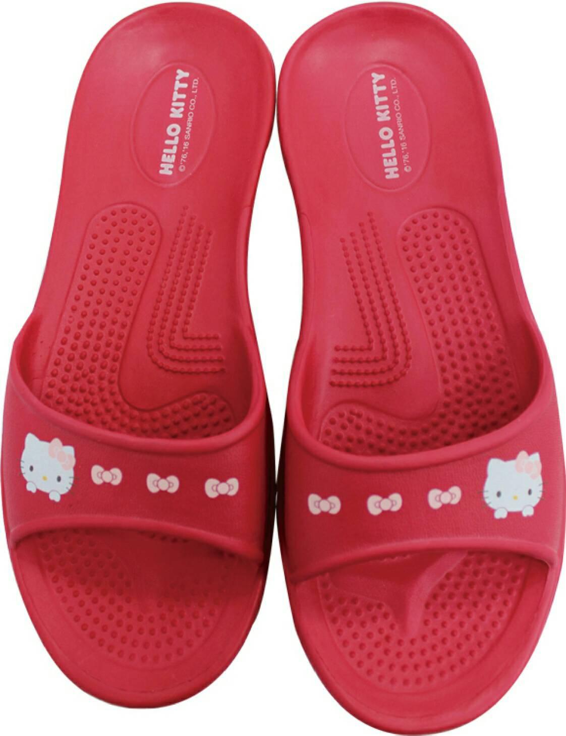 599免運~紅色HELLO KITTY拖鞋尺寸36.38.40 台灣製造超輕防水防滑拖鞋室內外拖鞋 浴室拖鞋