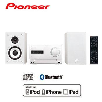 【集雅社】PIONEER 先鋒 X-CM32BT 迷你床頭音響 白色 公司貨  iPod/iPhone/CD/USB