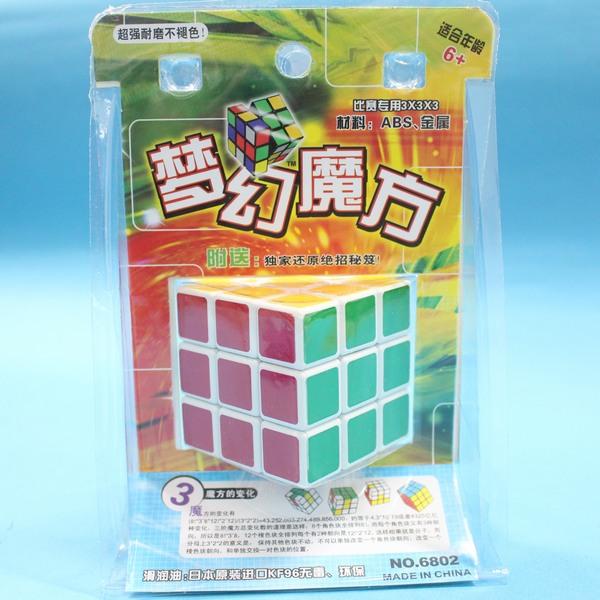 夢幻魔術方塊 魔術方塊 標準比賽級 5.7cm X 5.7cm(白底)/一個入{定100}~CF71037