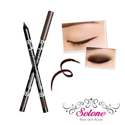 Solone 玩色派對閃閃惹人愛眼線筆-02璀璨棕