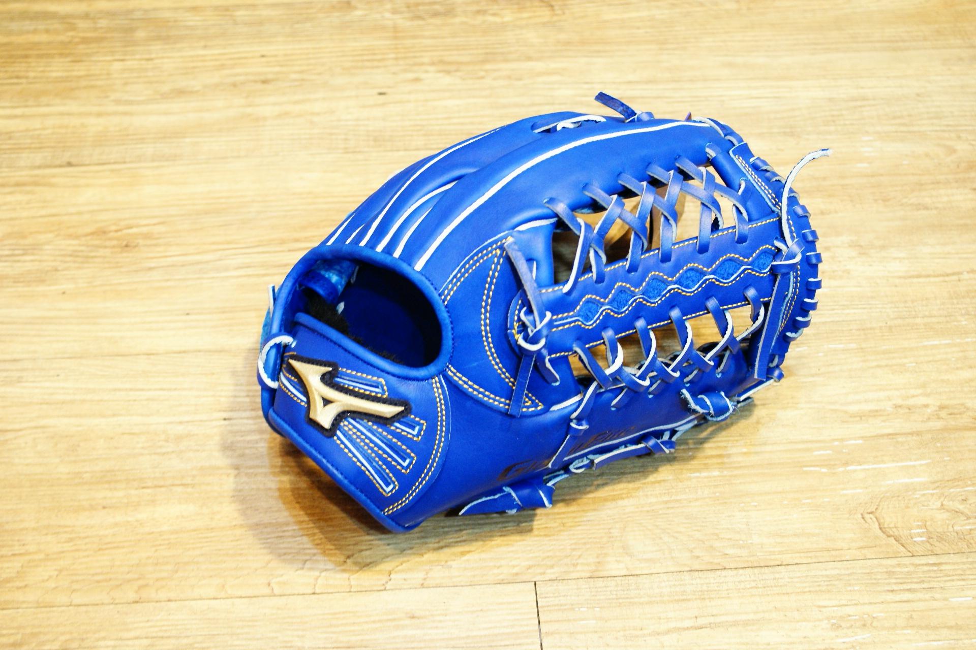 棒球世界 全新 Mizuno美津濃 GLOBAL ELITE 硬式外野T網手套 特價 藍色