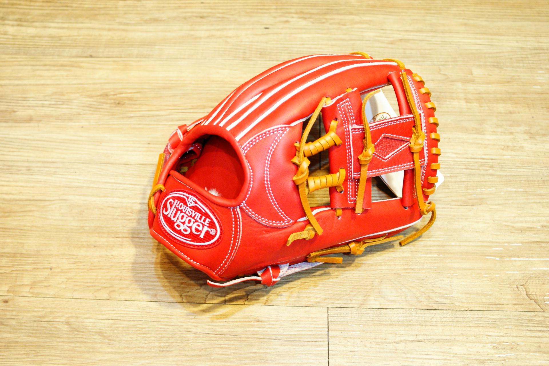 棒球世界全新 Louisville Slugger TPX 金剛系列 硬式棒壘手套 特價 內野工字 紅色