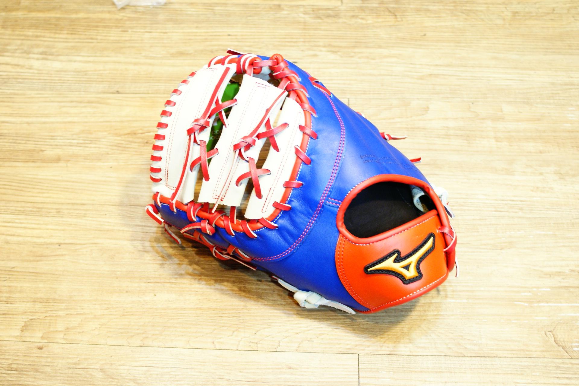 棒球世界 Mizuno美津濃 deep hollow硬式手套 1ATFH50400 特價 棒球用一壘手 中華隊配色