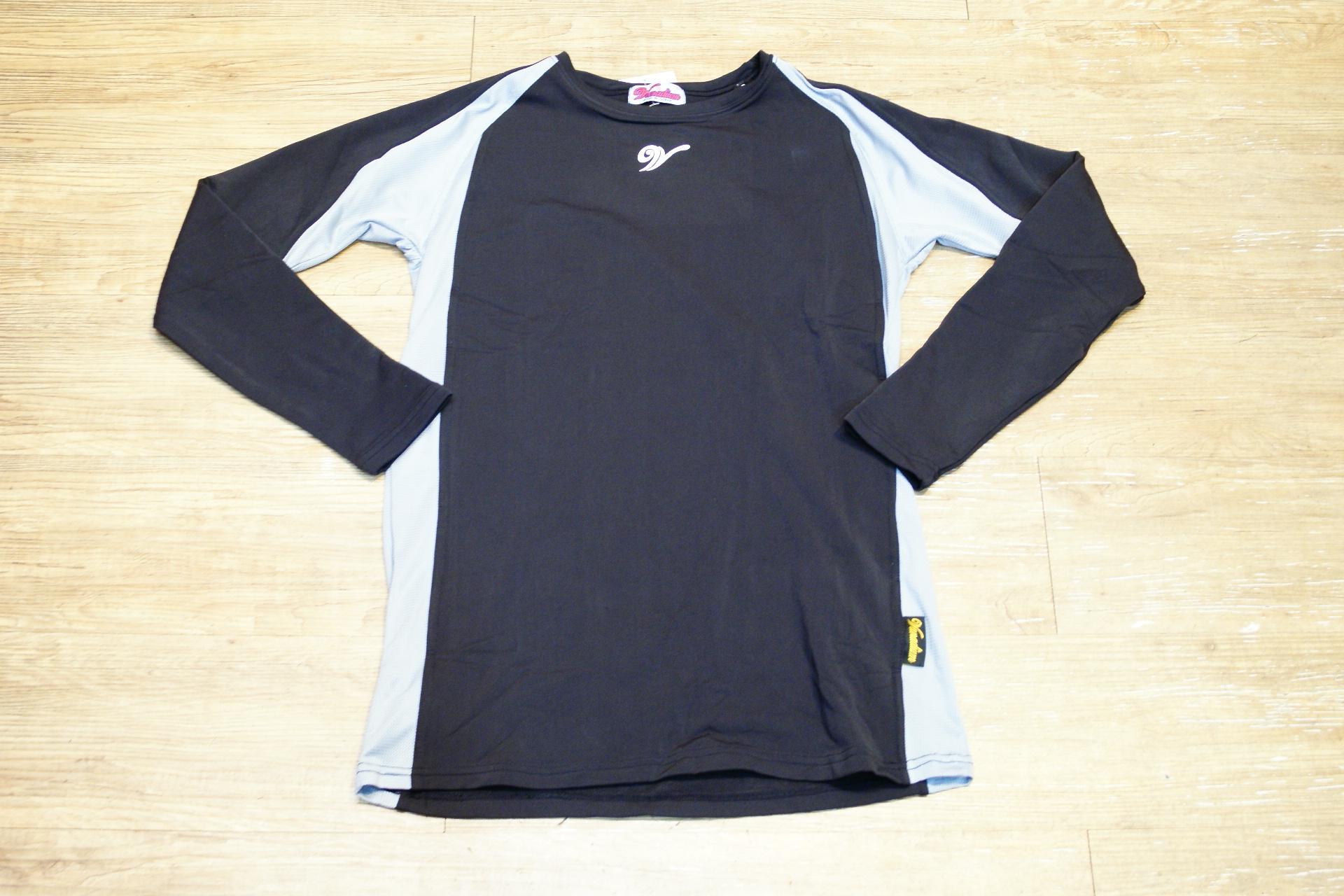 棒球世界 全新 摩勒帝長袖鋪棉緊身衣 黑色 特價