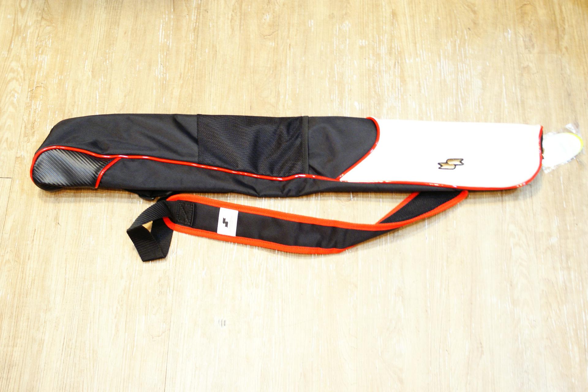 棒球世界全新SSK日本進口高質感單支裝球棒袋 黑紅配色 特價