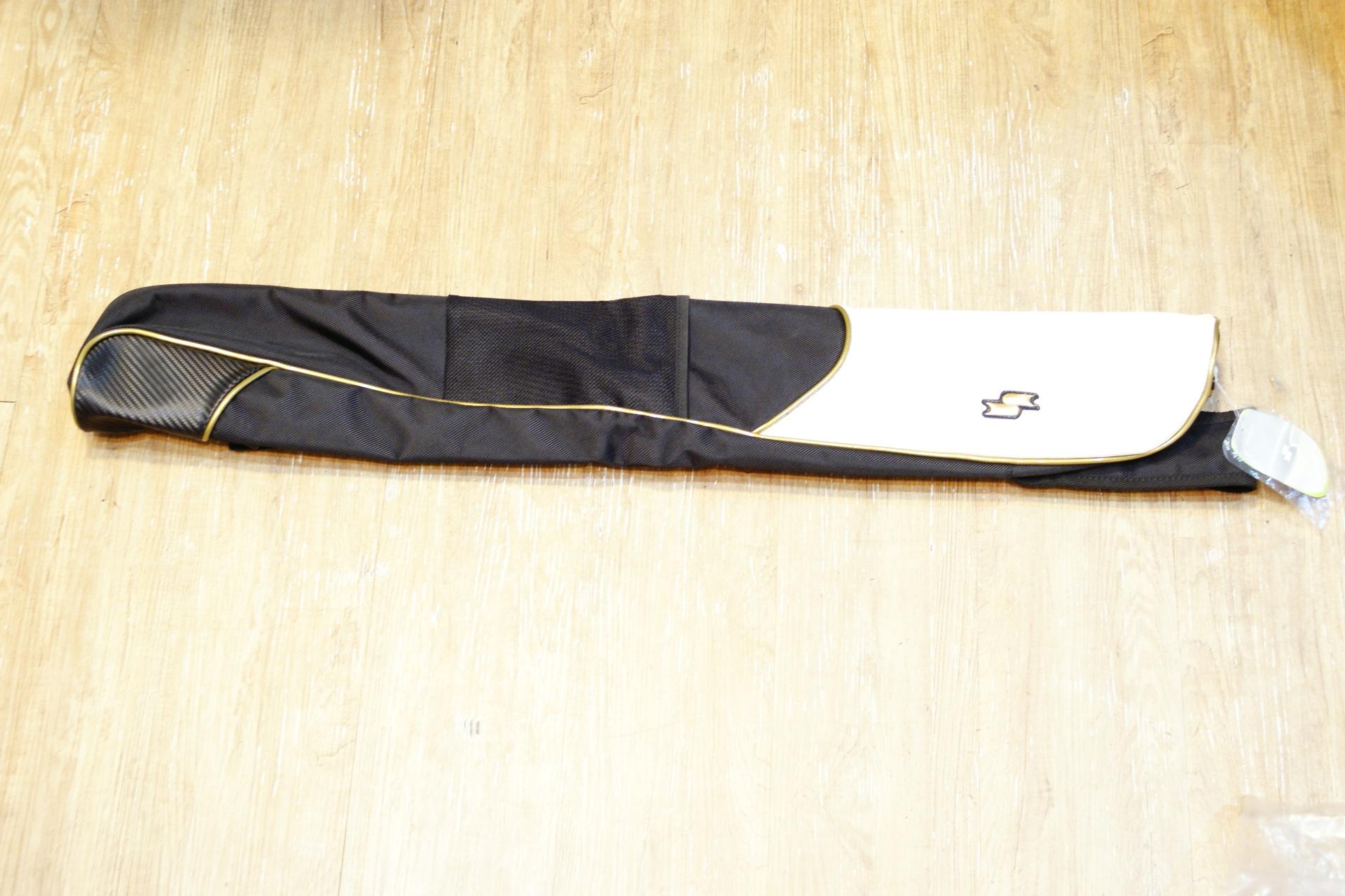 棒球世界全新SSK日本進口高質感單支裝球棒袋 黑金配色 特價