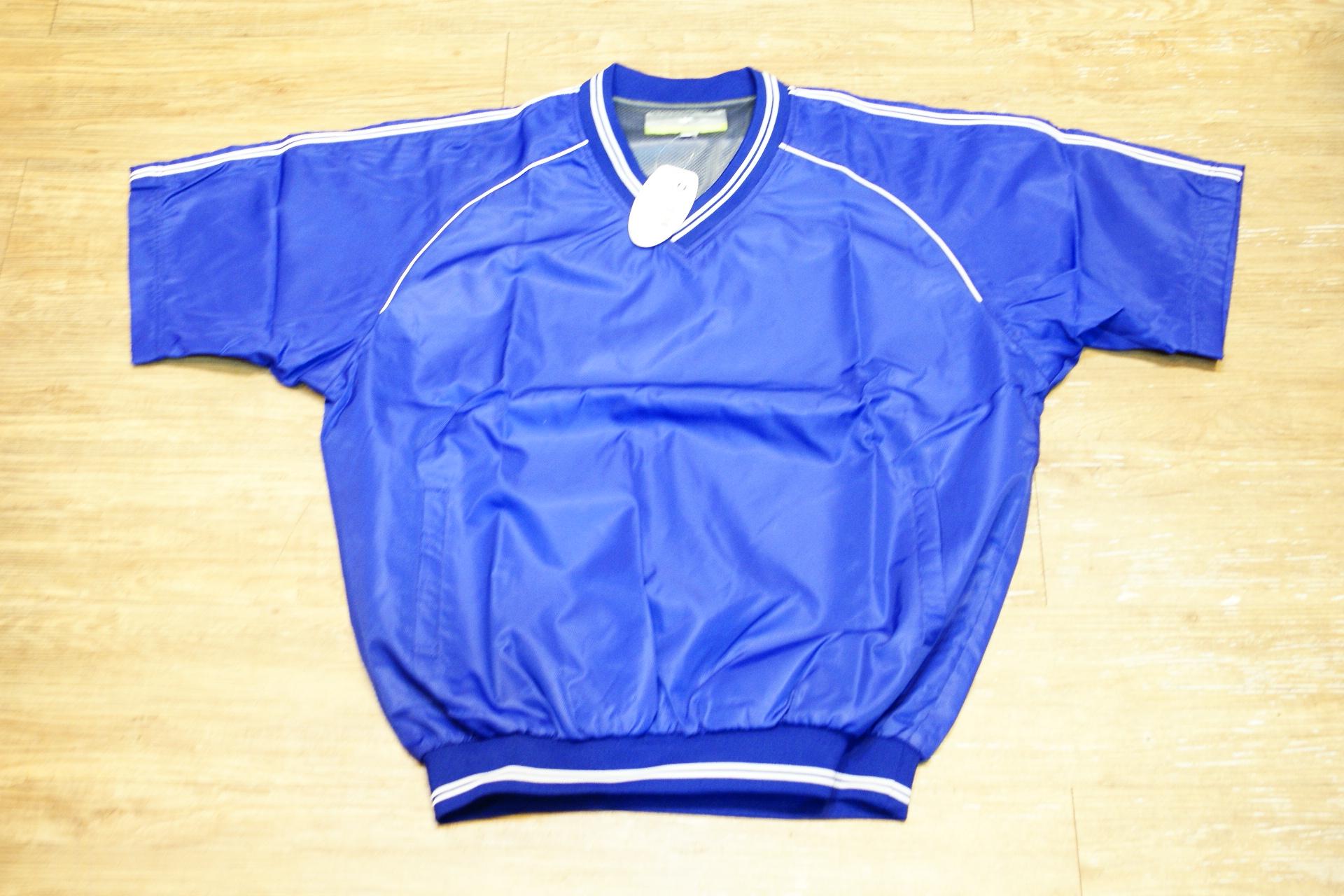 棒球世界全新SSK日本進口高質感短袖風衣 寶藍色特價